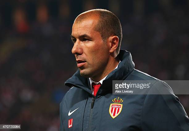 Leonardo Jardim coach of Monaco looks on after the UEFA Champions League quarterfinal second leg match between AS Monaco FC and Juventus at Stade...