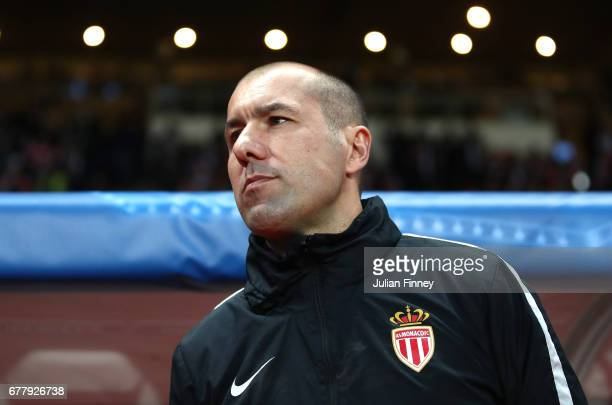 Leonardo Jardim head coach of AS Monaco looks on prior to the UEFA Champions League Semi Final first leg match between AS Monaco v Juventus at Stade...