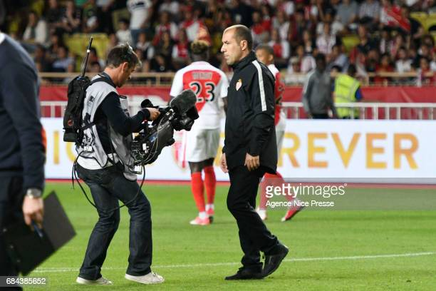 Leonardo Jardim head coach of Monaco after the final whistle of the Ligue 1 match between As Monaco and AS Saint Etienne at Stade Louis II on May 17...