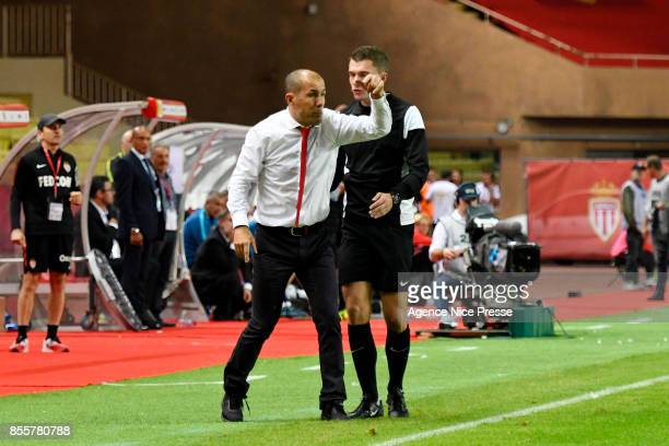Leonardo Jardim head coach of Monaco during the Ligue 1 match between AS Monaco and Montpellier Herault SC at Stade Louis II on September 29 2017 in...