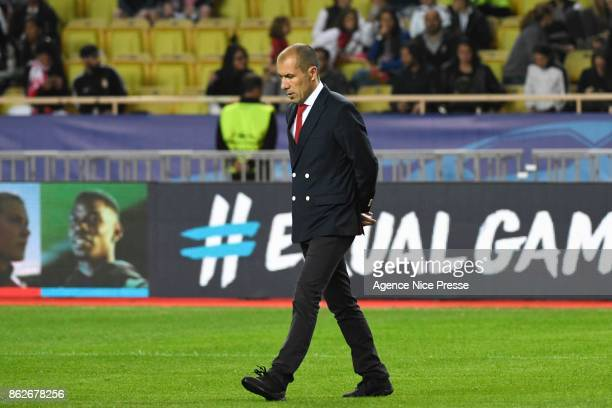 Leonardo Jardim head coach of Monaco during the UEFA Champions League match between AS Monaco and Besiktas Istanbul at Stade Louis II on October 17...