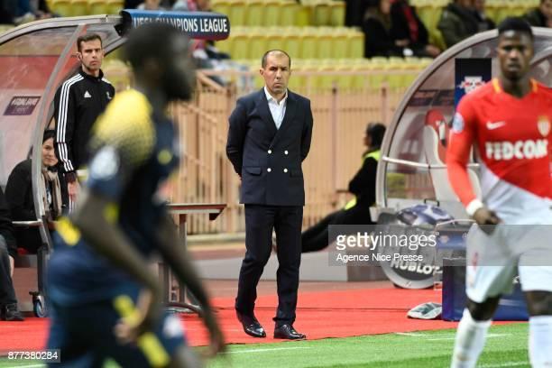 Leonardo Jardim head coach of Monaco during the UEFA Champions League match between As Monaco and RB Leipzig at Stade Louis II on November 21 2017 in...