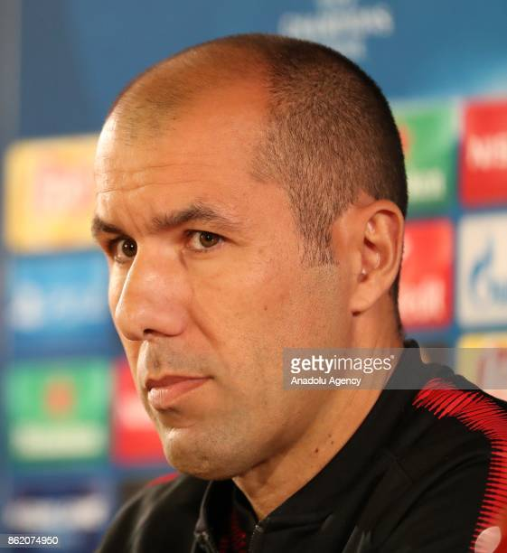Leonardo Jardim Head coach of Monaco holds a press conference ahead of UEFA Champions League Group G match between Monaco and Besiktas at Stade Louis...