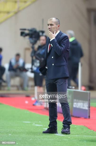 Leonardo Jardim Head coach of Monaco reacts during UEFA Champions League Group G match between Monaco and Besiktas at Stade Louis II in Fontvieille...