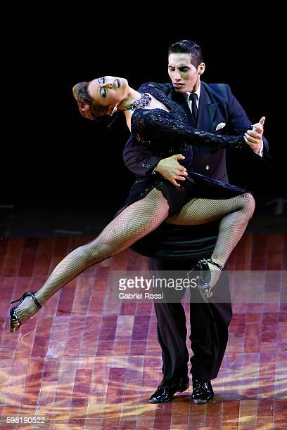 Leonardo Luizaga and Katherine Laiton of Argentina dance during the Stage Tango Final as part of Buenos Aires Tango Festival World Championship 2016...