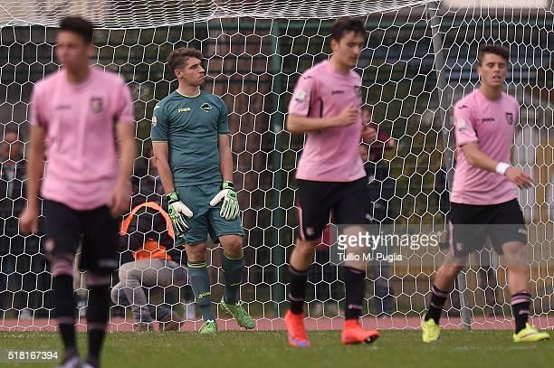 Leonardo Marson of Palermo looks dejected after Juventus' third goal during the Viareggio Juvenile Tournament match between FC Juventus and US Citta...