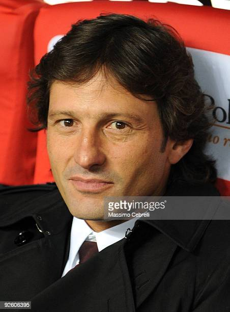 Leonardo of AC Milan during the Serie A match between AC Milan and Parma FC at Stadio Giuseppe Meazza on October 31 2009 in Milan Italy