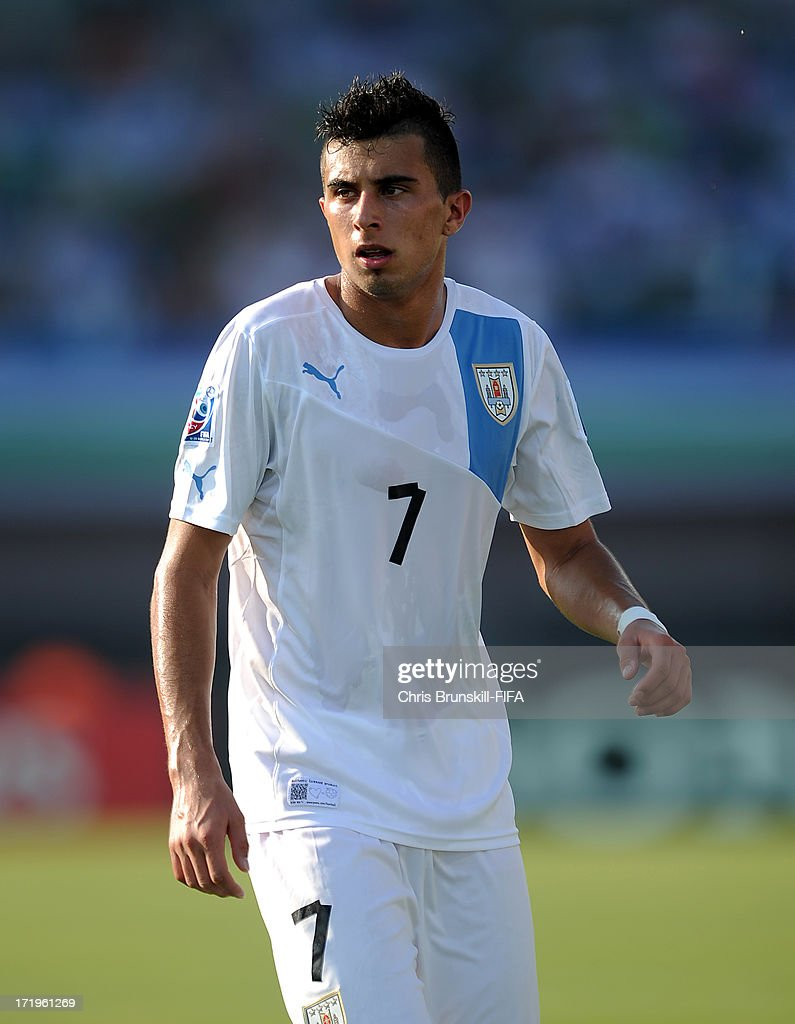 Leonardo Pais of Uruguay looks on during the FIFA U20 World Cup Group F match between Ukbekistan and Uruguay at Akdeniz University Stadium on June 29, 2013 in Antalya, Turkey.