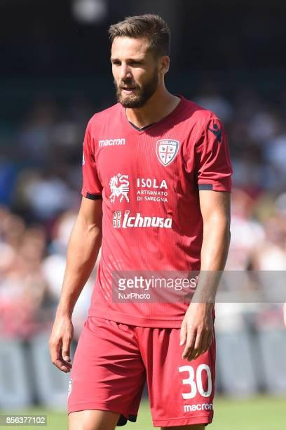 Leonardo Pavoletti of Cagliari Calcio during the Serie A TIM match between SSC Napoli and Cagliari Calcio at Stadio San Paolo Naples Italy on 1...