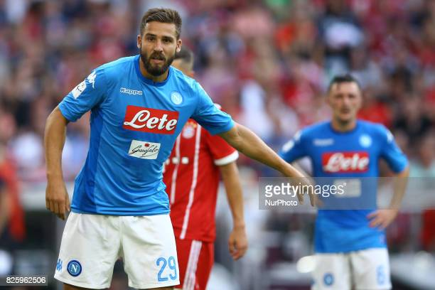 Leonardo Pavoletti of Napoli during the Audi Cup 2017 match between SSC Napoli and FC Bayern Muenchen at Allianz Arena on August 2 2017 in Munich...