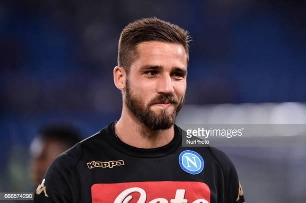 Leonardo Pavoletti of Napoli during the Serie A match between Lazio and Napoli at Stadio Olimpico Rome Italy on 9 April 2017 Photo by Giuseppe Maffia