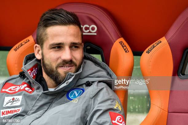 Leonardo Pavoletti of Napoli during the Serie A match between Roma and Napoli at Stadio Olimpico Rome Italy on 4 March 2017