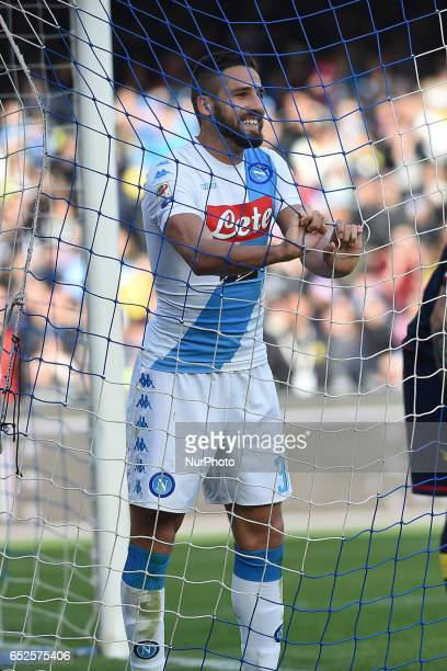 Leonardo Pavoletti of SSC Napoli disappointed during the Serie A TIM match between SSC Napoli and FC Crotone at Stadio San Paolo Naples Italy on 12...