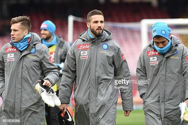 Leonardo Pavoletti of SSC Napoli during the Serie A TIM match between SSC Napoli and Pescara Calcio at Stadio San Paolo Naples Italy on 15 January...