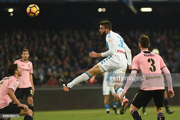 Leonardo Pavoletti of SSC Napoli during the Serie A TIM match between SSC Napoli and US Citta di Palermo at Stadio San Paolo Naples Italy on 29...