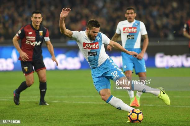 Leonardo Pavoletti of SSC Napoli during the Serie A TIM match between SSC Napoli and Genoa CFC at Stadio San Paolo Naples Italy on 10 February 2017