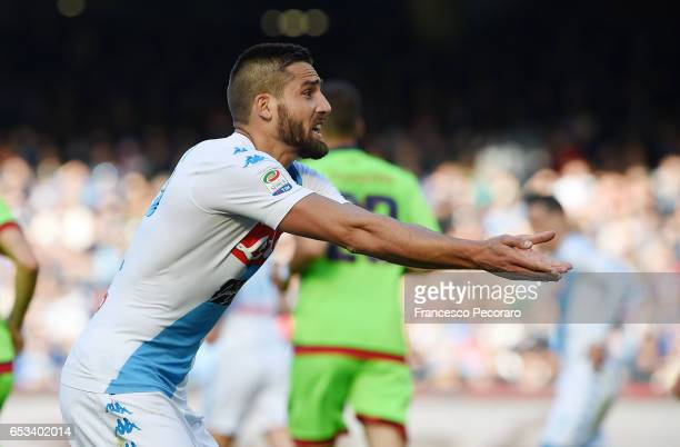 Leonardo Pavoletti of SSC Napoli in action during the Serie A match between SSC Napoli and FC Crotone at Stadio San Paolo on March 12 2017 in Naples...