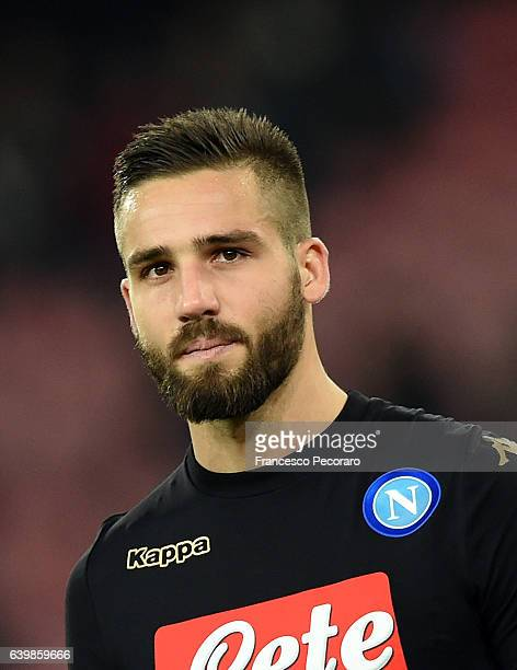 Leonardo Pavoletti of SSC Napoli in action during the TIM Cup match between SSC Napoli and ACF Fiorentina at Stadio San Paolo on January 24 2017 in...
