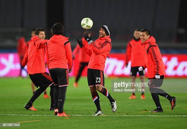 Leonardo Ponzio of River Plate during a training session at International Stadium Yokohama on December 19 2015 in Yokohama Japan