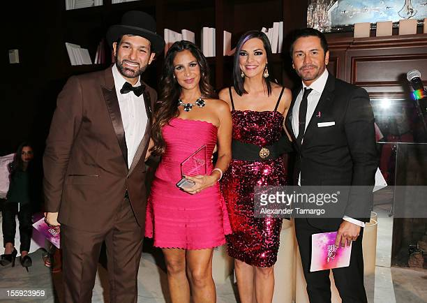 Leonardo Rocco Lorena Rojas Candela Ferro and Alberto Salaberry attend Miami Hair Beauty Fashion 2012 By Rocco Donna at Viceroy Hotel Spa on November...
