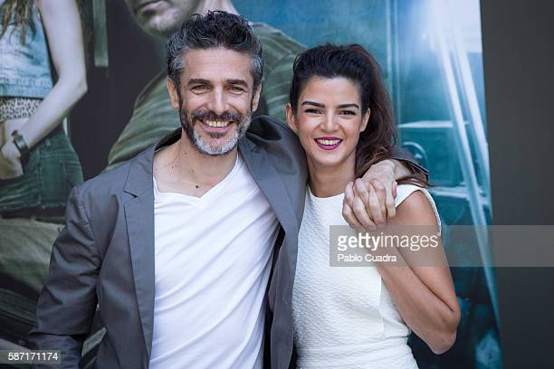 Leonardo Sbaraglia and Clara Lago attends 'Al Final Del Tunel' photocall at Warner Bros office on August 8 2016 in Madrid Spain