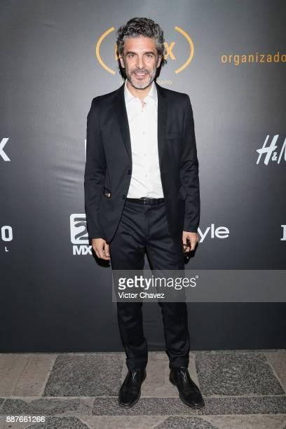 Leonardo Sbaraglia attends the Premio Iberoamericano De Cine Fenix 2017 press room at Teatro de La Ciudad on December 6 2017 in Mexico City Mexico