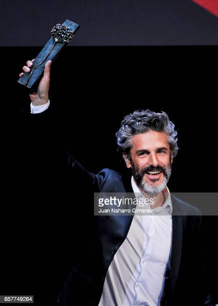 Leonardo Sbaraglia receives the Best actor 'Bizanaga de plata' Cinema Awards 2017 on March 25 2017 in Malaga Spain