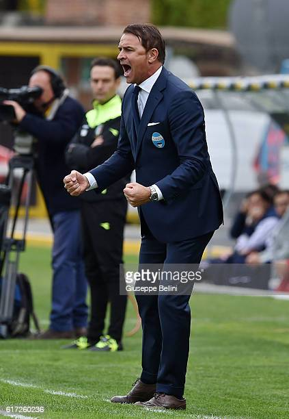 Leonardo Semplici head coach of Spal during the Serie B match between SPAL and Carpi FC at Stadio Paolo Mazza on October 22 2016 in Ferrara Italy