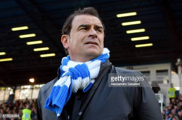 Leonardo Semplici head coach of Spal looks on before the Serie A match between Spal and ACF Fiorentina at Stadio Paolo Mazza on November 19 2017 in...