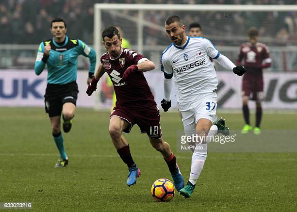Leonardo Spinazzola during the Serie A match between FC Torino and Atalanta BC at Stadio Olimpico di Torino on January 29 2017 in Turin Italy