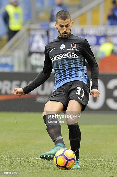 Leonardo Spinazzola of Atalanta BC in action during the Serie A match between SS Lazio and Atalanta BC at Stadio Olimpico on January 15 2017 in Rome...