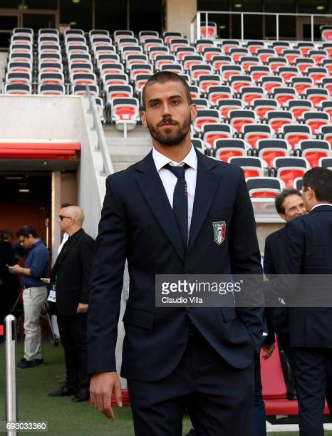 Leonardo Spinazzola of Italy attends Italy walk around at Allianz Riviera Stadium on June 6 2017 in Nice France