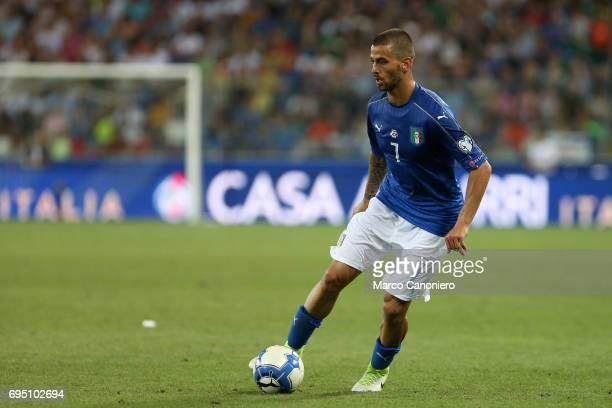 Leonardo Spinazzola of Italy during the FIFA 2018 World Cup Qualifier match between Italy and Liechtenstein Italy went on to win the match 50