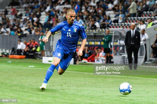 Leonardo Spinazzola of Italy during the International Friendly match between Italy and Uruguay on June 7 2017 in Nice France
