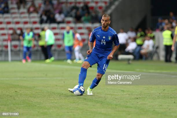 Leonardo Spinazzola of Italy in action during the international friendly match between Italy and Uruguay Italy wins 30 over Uruguay