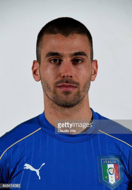 Leonardo Spinazzola of Italy poses during the official portrait session at Coverciano on February 21 2017 in Florence Italy