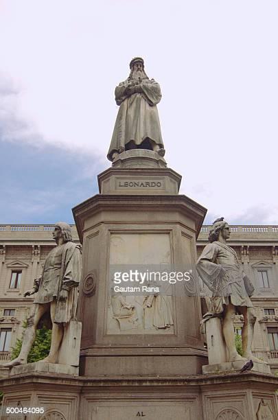Leonardo Statue at Milan