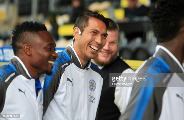 Leonardo Ulloa of Leicester City at Pirelli Stadium ahead of the pre season friendly between Burton Albion and Leicester City at Pirelli Stadium on...