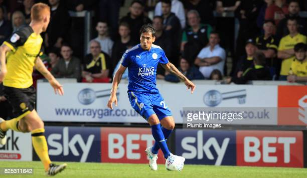 Leonardo Ulloa of Leicester City during the pre season friendly between Burton Albion and Leicester City at Pirelli Stadium on August 1st 2017 in...