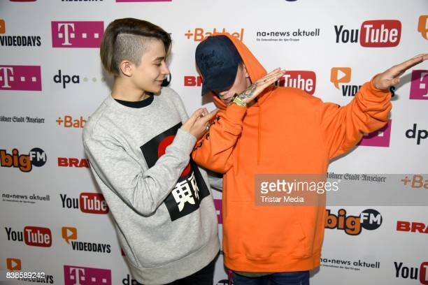 Leondre Devries Charlie Lenehan of the band Bars Melody during the red carpet arrivals at the VideoDays 2017 at Lanxess Arena on August 24 2017 in...