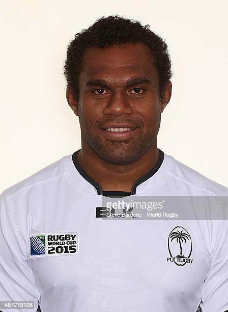 Leone Nakarawa of Fiji poses for a portrait during the Fiji Rugby World Cup 2015 squad photo call at British Army Rugby HQ on September 7 2015 in...