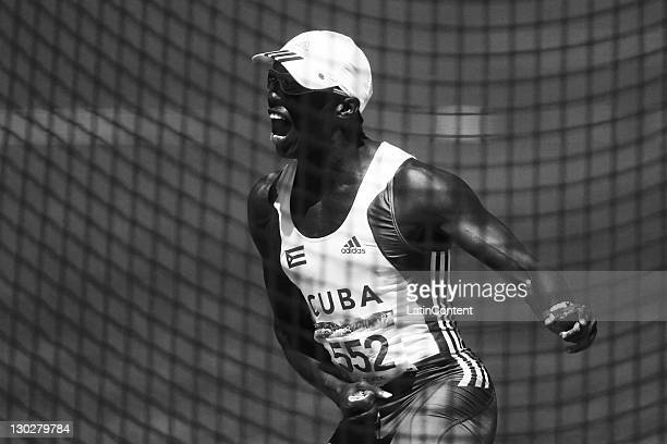 Leonel Suarez of Cuba compete during the Men's Decathlon during the 2011 XVI Pan American Games at Telmex Athletics Stadium on October 25 2011 in...