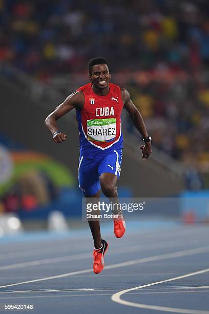 Leonel Suarez of Cuba competes during the Men's Decathlon 400m heats on Day 12 of the Rio 2016 Olympic Games at the Olympic Stadium on August 17 2016...