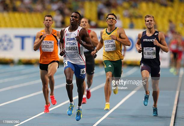 Leonel Suarez of Cuba competes in the Men's Decathlon 1500 metres during Day Two of the 14th IAAF World Athletics Championships Moscow 2013 at...