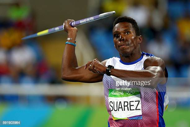 Leonel Suarez of Cuba competes in the Men's Decathlon Javelin Throw on Day 13 of the Rio 2016 Olympic Games at the Olympic Stadium on August 18 2016...