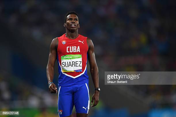 Leonel Suarez of Cuba looks on during the Men's Decathlon 400m heats on Day 12 of the Rio 2016 Olympic Games at the Olympic Stadium on August 17 2016...