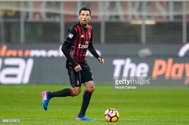 Leonel Vangioni of AC Milan in action during the Serie A football match between AC Milan and AC ChievoVerona AC Milan wins 31 over AC ChievoVerona