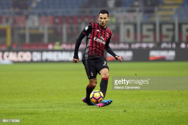 Leonel Vangioni of Ac Milan in action during the Serie A match between AC Milan and ACF Fiorentina AC Milan wins 21 over ACF Fiorentina