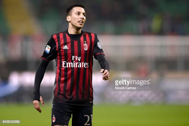Leonel Vangioni of AC Milan looks on during the Serie A football match between AC Milan and ACF Fiorentina AC Milan wins 21 over ACF Fiorentina