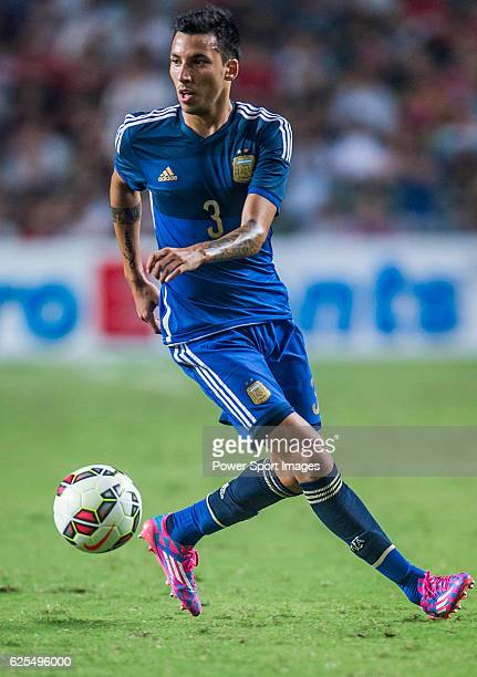 Leonel Vangioni of Argentina in action during the HKFA Centennial Celebration Match between Hong Kong and Argentina at the Hong Kong Stadium on 14th...